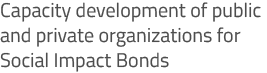 Capacity development of public and private organizations for Social Impact Bonds